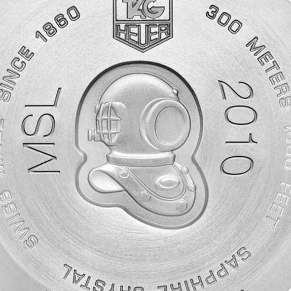 University of North Carolina Men's TAG Heuer Steel Aquaracer with Black Dial - Image 3