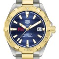 MIT Men's TAG Heuer Automatic Two-Tone Aquaracer with Blue Dial - Image 1