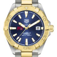 MIT Men's TAG Heuer Automatic Two-Tone Aquaracer with Blue Dial