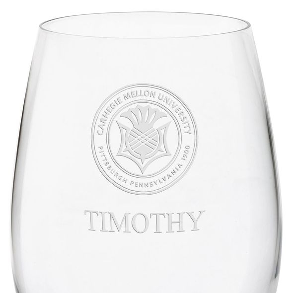 Carnegie Mellon University Red Wine Glasses - Set of 4 - Image 3