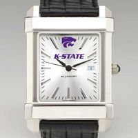 Kansas State University Men's Collegiate Watch with Leather Strap