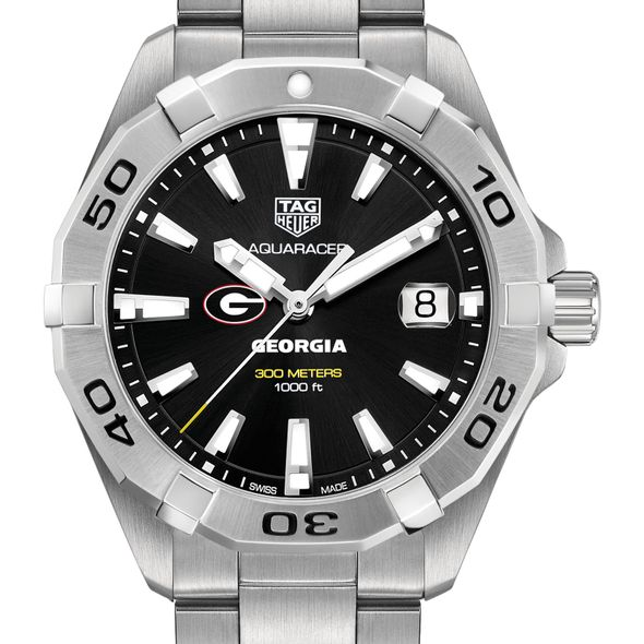 University of Georgia Men's TAG Heuer Steel Aquaracer with Black Dial