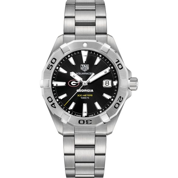 University of Georgia Men's TAG Heuer Steel Aquaracer with Black Dial - Image 2