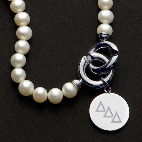 Delta Delta Delta Pearl Necklace with Sterling Silver Charm - Image 2