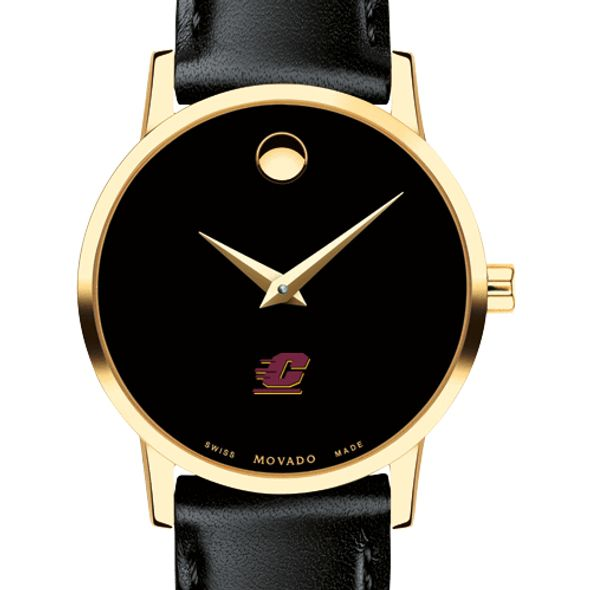 Central Michigan Women's Movado Gold Museum Classic Leather