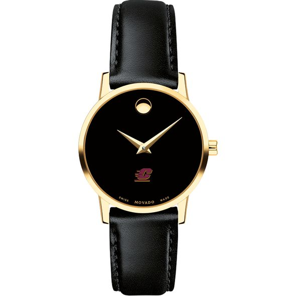 Central Michigan Women's Movado Gold Museum Classic Leather - Image 2