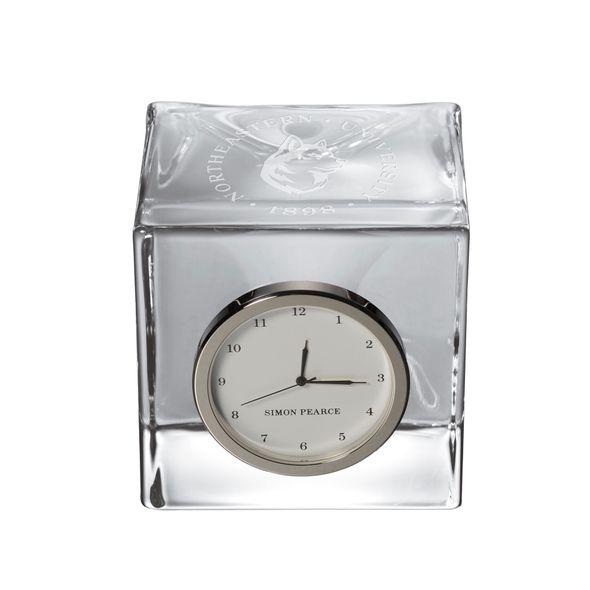Northeastern Glass Desk Clock by Simon Pearce - Image 1