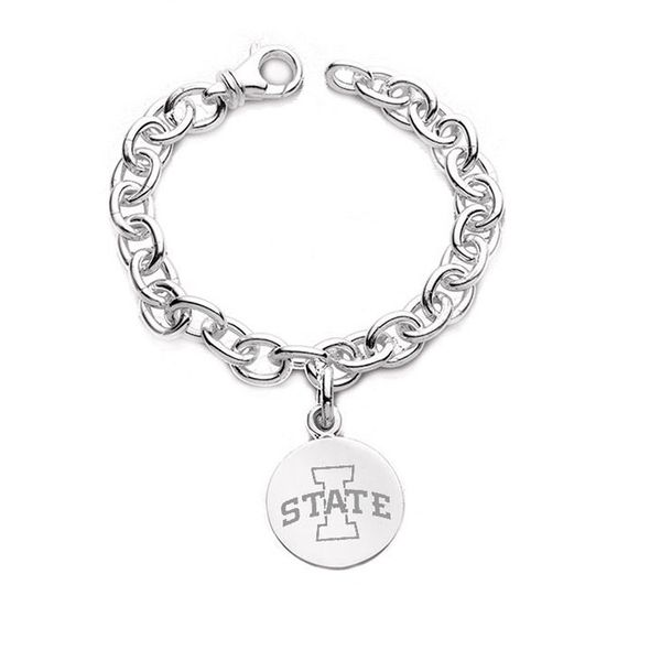 Iowa State University Sterling Silver Charm Bracelet - Image 1