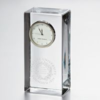 Syracuse University Tall Glass Desk Clock by Simon Pearce