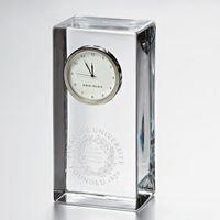 Syracuse University Tall Glass Desk Clock by Simon Pearce