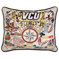VCU Embroidered Pillow