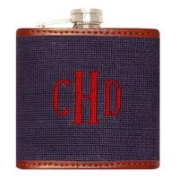 Monogram Needlepoint Flask