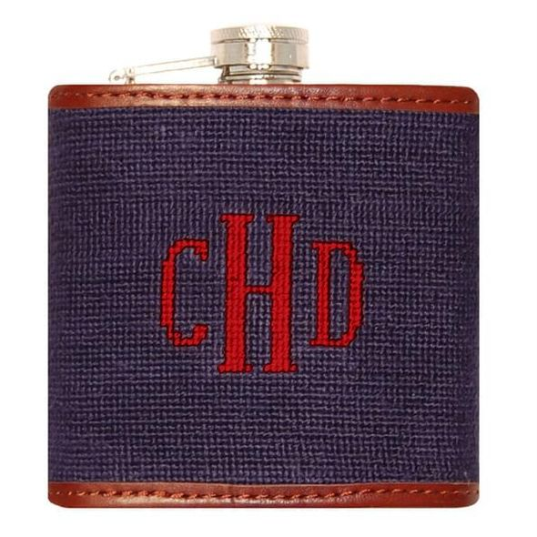 Monogram Needlepoint Flask - Image 2
