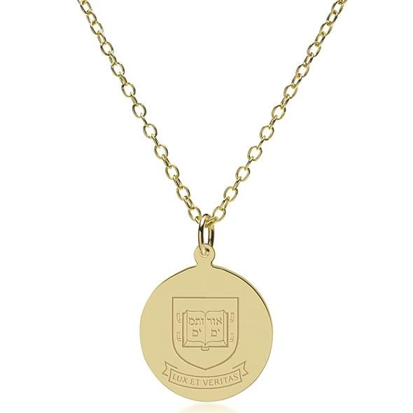 Yale 14K Gold Pendant & Chain - Image 2
