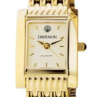 Davidson College Women's Gold Quad with Bracelet