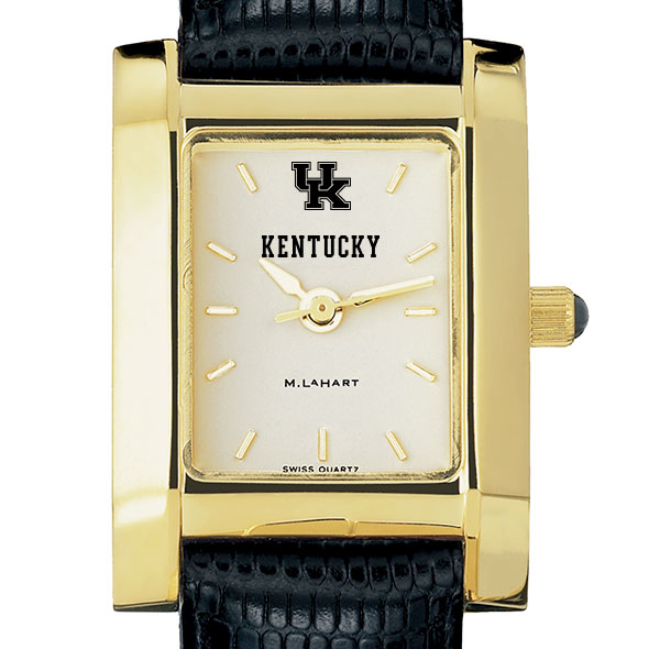 Kentucky Women's Gold Quad with Leather Strap