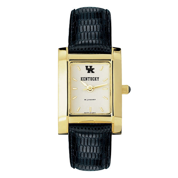 Kentucky Women's Gold Quad with Leather Strap - Image 2