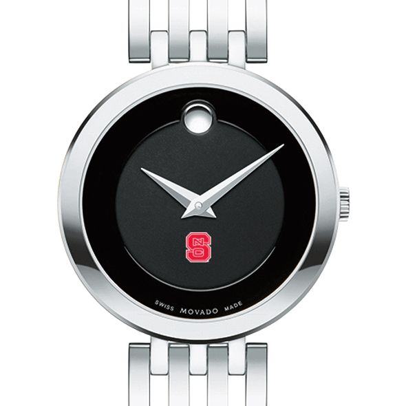 North Carolina State Women's Movado Esparanza Stainless Steel Museum with Bracelet