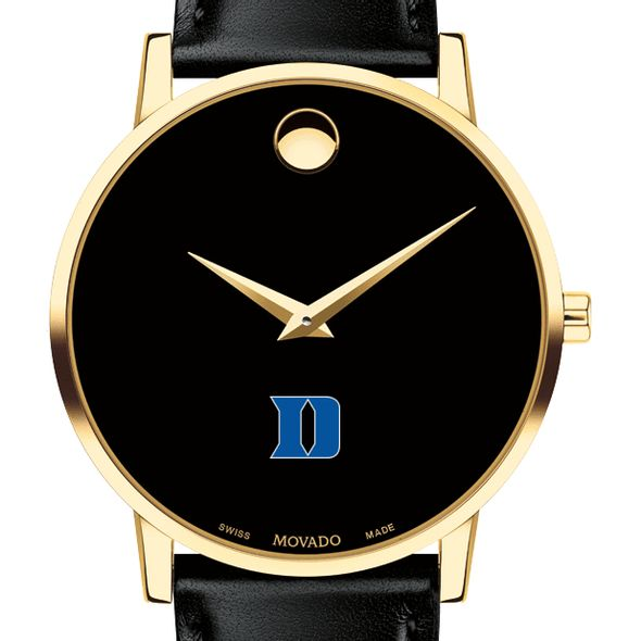 Duke University Men's Movado Gold Museum Classic Leather - Image 1