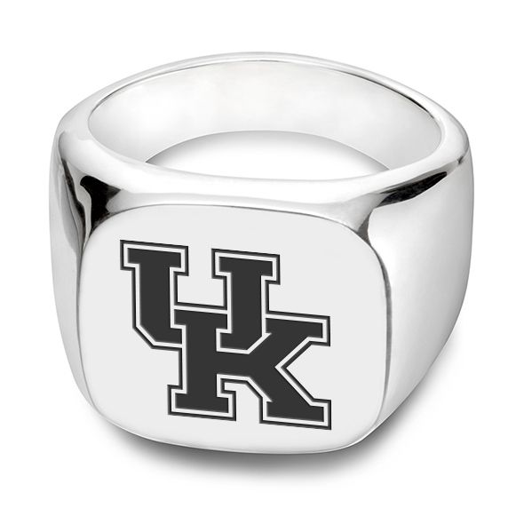 University of Kentucky Sterling Silver Square Cushion Ring