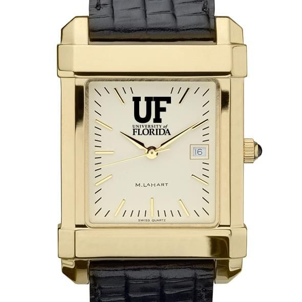Florida Men's Gold Quad with Leather Strap - Image 1
