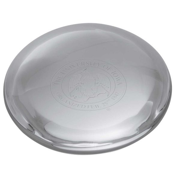 University of Iowa Glass Dome Paperweight by Simon Pearce - Image 2