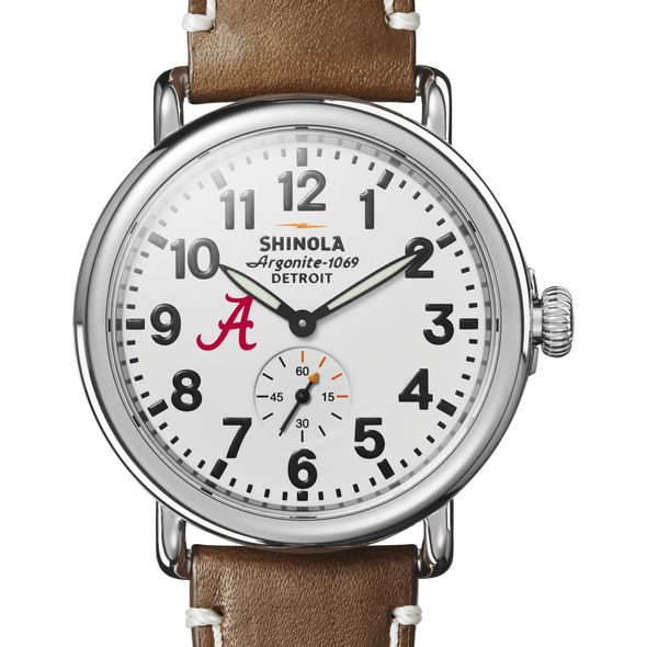 Alabama Shinola Watch, The Runwell 41mm White Dial - Image 1