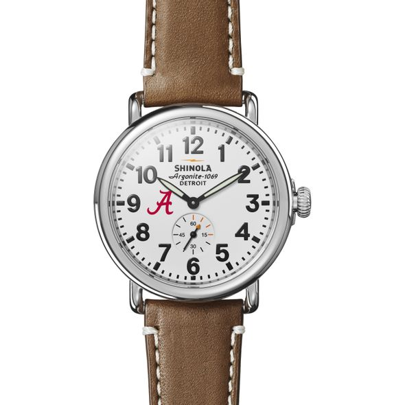 Alabama Shinola Watch, The Runwell 41mm White Dial - Image 2