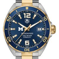 Michigan Ross Men's TAG Heuer Two-Tone Formula 1 with Blue Dial & Bezel