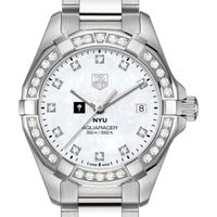 NYU Women's TAG Heuer Steel Aquaracer with MOP Diamond Dial & Diamond Bezel