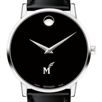 George Mason University Men's Movado Museum with Leather Strap