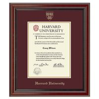 Harvard University Masters/PhD Diploma Frame, the Fidelitas