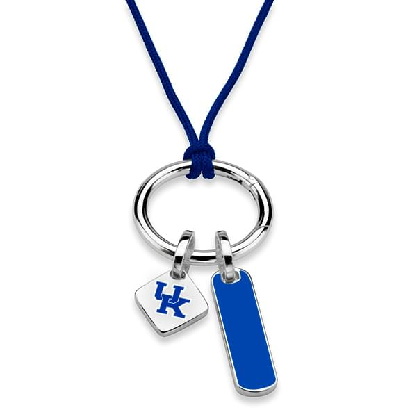 University of Kentucky Silk Necklace with Enamel Charm & Sterling Silver Tag - Image 2