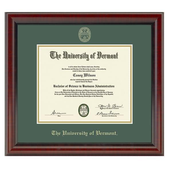 University of Vermont Diploma Frame, the Fidelitas