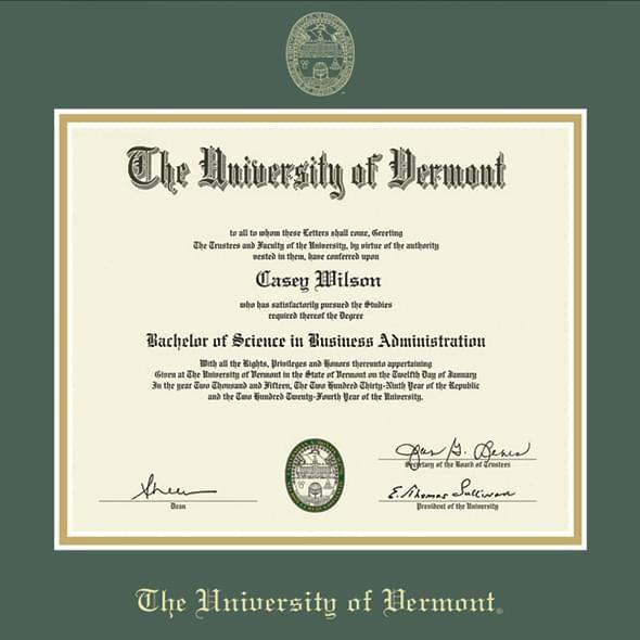 University of Vermont Diploma Frame, the Fidelitas - Image 2