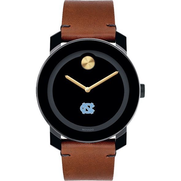 University of North Carolina Men's Movado BOLD with Brown Leather Strap - Image 2