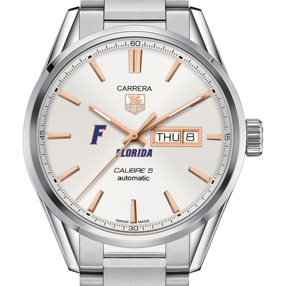University of Florida Men's TAG Heuer Day/Date Carrera with Silver Dial & Bracelet