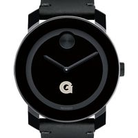 Georgetown University Men's Movado BOLD with Leather Strap