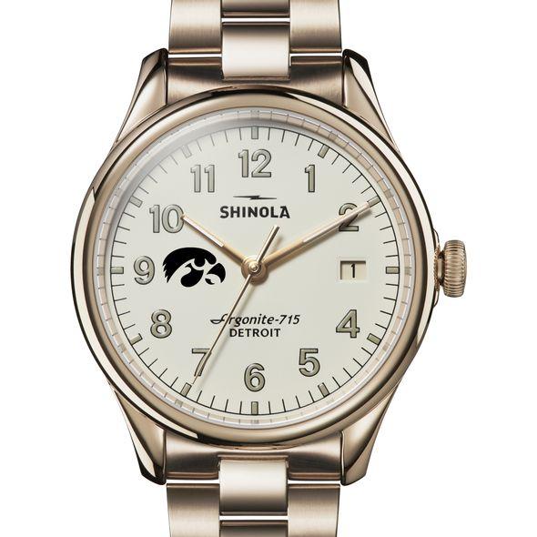 Iowa Shinola Watch, The Vinton 38mm Ivory Dial