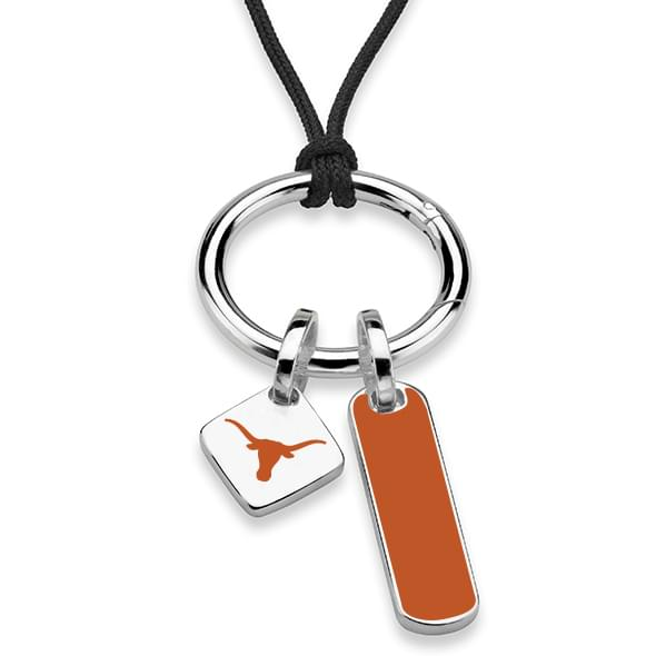 Texas Silk Necklace with Enamel Charm & Sterling Silver Tag