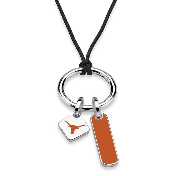 Texas Silk Necklace with Enamel Charm & Sterling Silver Tag - Image 2