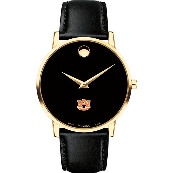 Auburn University Men's Movado Gold Museum Classic Leather - Image 2