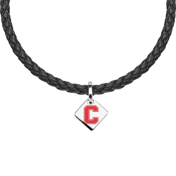 Cornell Leather Necklace with Sterling Silver Tag