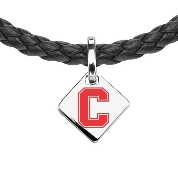 Cornell Leather Necklace with Sterling Silver Tag - Image 2