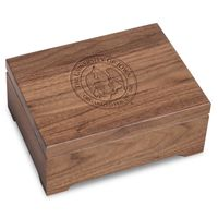 University of Iowa Solid Walnut Desk Box