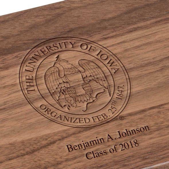 University of Iowa Solid Walnut Desk Box - Image 3