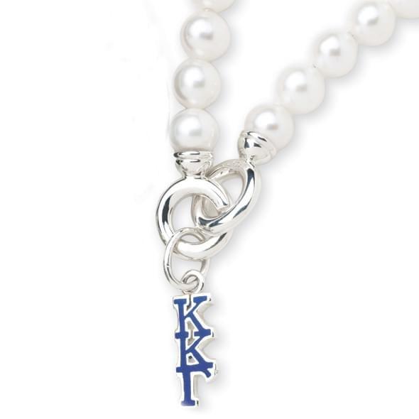 Kappa Kappa Gamma Pearl Bracelet with Greek Letter Charm - Image 2