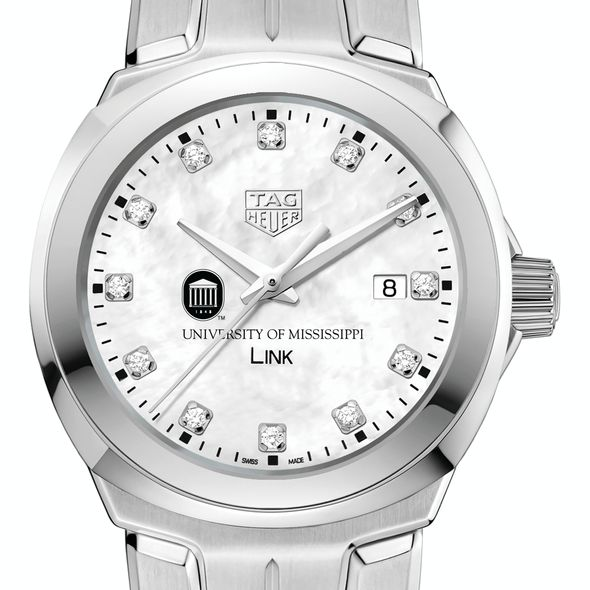 University of Mississippi TAG Heuer Diamond Dial LINK for Women