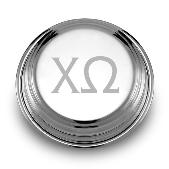 Chi Omega Pewter Paperweight