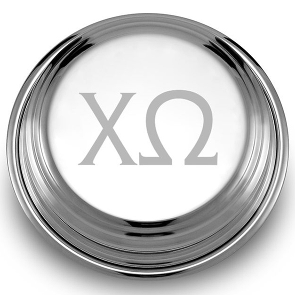 Chi Omega Pewter Paperweight - Image 2